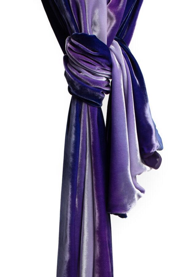 Silk Velvet Wrap - Amethyst
