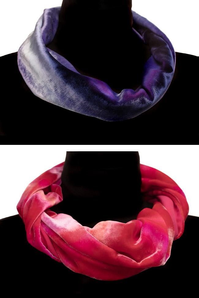Mel Bradley Silk Velvet Cowl Scarves