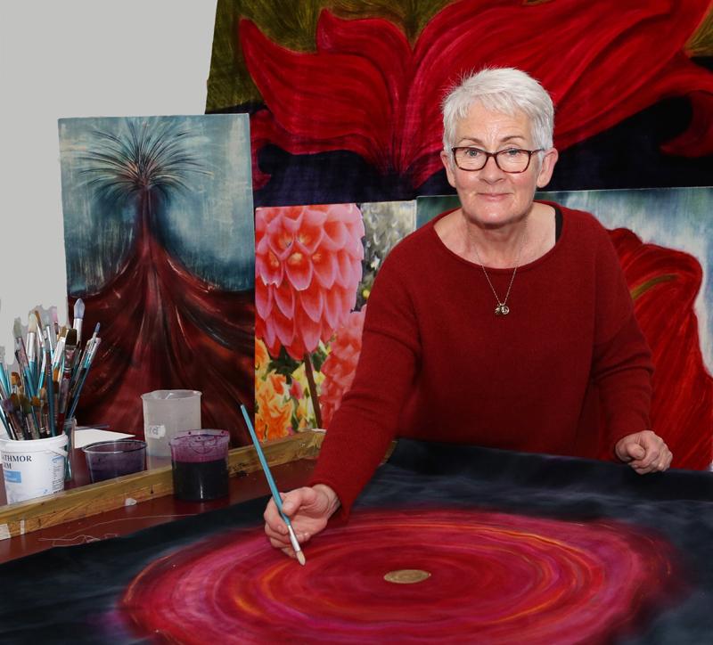Mel Bradley in her studio