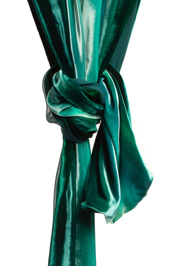 Silk Velvet Wrap - Samphire